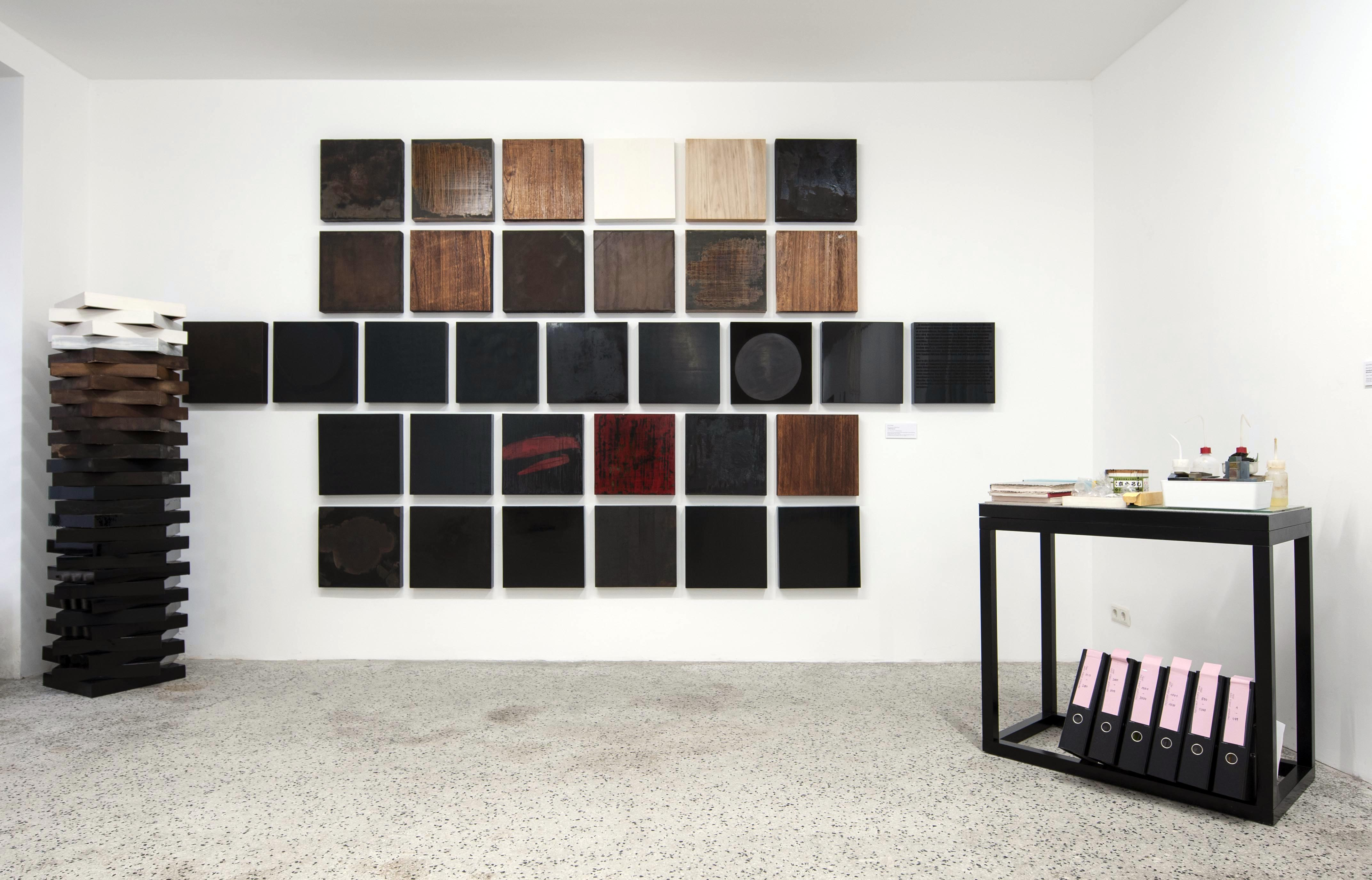 Astrid Edlinger | '100 Black Squares', exhibition view 2019